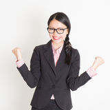 Businesswoman celebrating success Royalty Free Stock Images