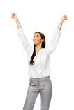 Businesswoman celebration Stock Image