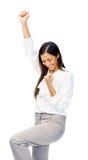 Businesswoman celebration Stock Photography