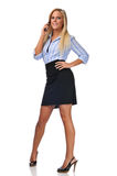 Businesswoman on the cell phone Royalty Free Stock Photo