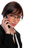 Businesswoman on the cell phone Stock Image
