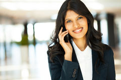 Businesswoman on cell phone Royalty Free Stock Image