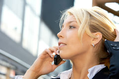 Businesswoman With Cell Phone stock image