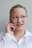 Businesswoman on cell phone Stock Photography