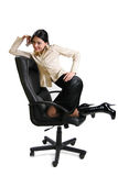 Businesswoman on cell phone Stock Photo
