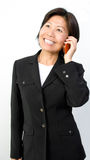 Businesswoman on Cell Phone Royalty Free Stock Photography