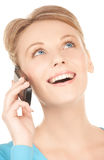 Businesswoman with cell phone calling Royalty Free Stock Photo