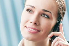 Businesswoman with cellphone Royalty Free Stock Photos