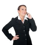 Businesswoman with cellphone Stock Photos