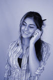 Businesswoman and cellphone-4 Royalty Free Stock Images