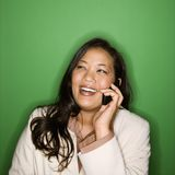 Businesswoman on cellphone. Royalty Free Stock Photo