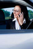 Businesswoman cellphone Stock Photo