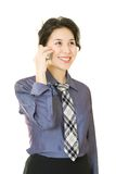 Businesswoman with cellular phone stock photo