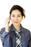 Businesswoman with cellulr phone Royalty Free Stock Photos