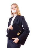 Businesswoman in censorship concept Royalty Free Stock Images