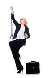 Businesswoman with chain Royalty Free Stock Photo