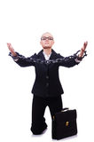 Businesswoman with chain Royalty Free Stock Photos