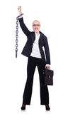 Businesswoman with chain Stock Images