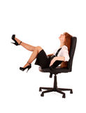 Businesswoman  in chair Stock Photo