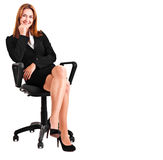 Businesswoman chair Royalty Free Stock Photo