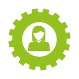 Businesswoman character avatar icon Stock Photos
