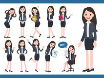 Businesswoman character collection Stock Photos