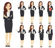 Businesswoman character set Stock Photos