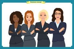 Businesswoman character vector design Διαβούλευση επιχειρηματιών Απεικόνιση αποθεμάτων