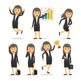 Businesswoman character vector Royalty Free Stock Photos
