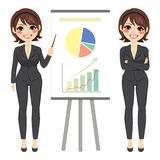 Businesswoman With Chart Stock Image