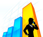 Businesswoman with chart Stock Photo
