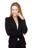Businesswoman chat on phone Stock Photo