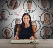 Businesswoman chat Stock Photos