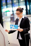 Businesswoman check in Stock Image