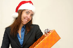 Businesswoman in Christmas Royalty Free Stock Images