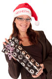 Businesswoman Christmas Stock Photo
