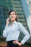 Businesswoman in the City Stock Photography