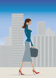 Businesswoman in city Stock Image
