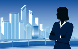 Businesswoman and city Stock Image