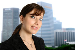 Businesswoman in city Royalty Free Stock Image