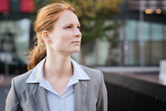 Businesswoman in a City Center Royalty Free Stock Photos