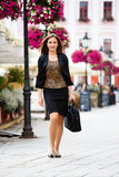 Businesswoman in the city Royalty Free Stock Images