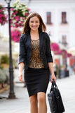 Businesswoman in the city Stock Photos
