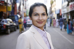 Businesswoman On City Street Royalty Free Stock Photos