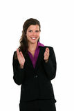 Businesswoman clapping her hands Stock Image