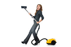 Businesswoman cleaning Stock Images