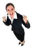 Businesswoman clenching fists Stock Photography
