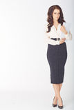 Businesswoman with a clipboard Stock Photos