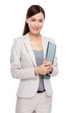 Businesswoman with clipboard Royalty Free Stock Photos