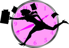 Businesswoman_clock Fotos de Stock